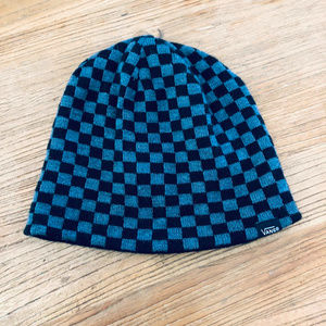 Vans Checkerboard Grey & Black Knit Beanie Hat